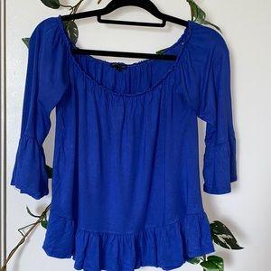Blue flowy shirt!